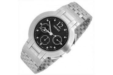 Madison - Men's Stainless Steel Black Dial Chronograph