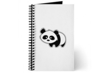 Cute Little Panda Animals Journal by CafePress