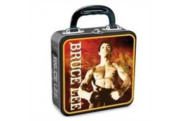 Bruce Lee Flex Nunchaku Poses Tin Lunch Box