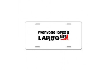Everyone loves a Largo Girl Florida Aluminum License Plate by CafePress