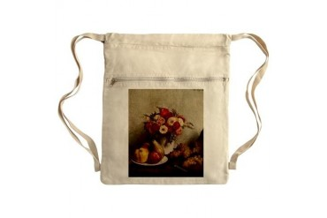 Fruit and Flowers Sack Pack Vintage Cinch Sack by CafePress