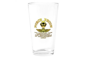 Force Recon The Difficult Military Drinking Glass by CafePress