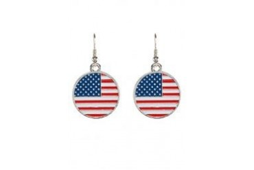 Fox's Accessories US Flag Pattern Design Earrings
