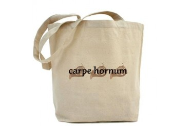 French Horn Carpe Hornum Music Tote Bag by CafePress