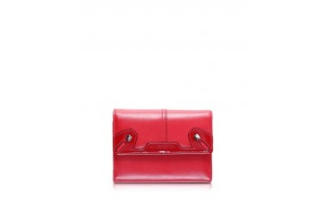 Briget Calf Leather Flap Wallet