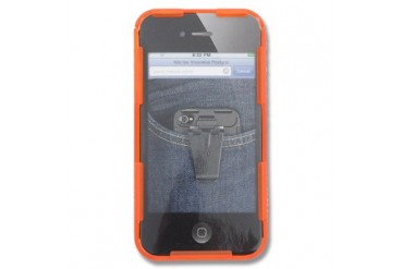 Nite Ize Connect Case for iPhone 4S and 4 - Orange Translucent