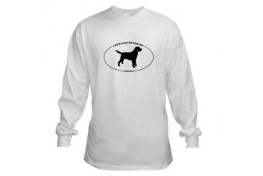 Labrador Oval Text Pets Long Sleeve T-Shirt by CafePress