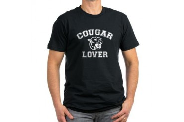 Cougar lover Funny Men's Fitted T-Shirt dark by CafePress