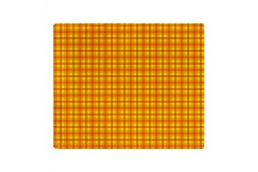 Orange Gingham Stadium Blanket Retro Throw Blanket by CafePress