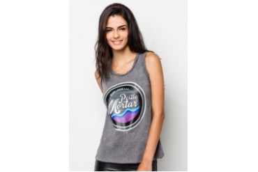 Pestle & Mortar Ladies Retro Logo Braided Tank Top