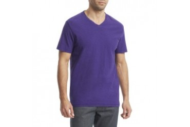Slub-Knit V-Neck T-Shirt