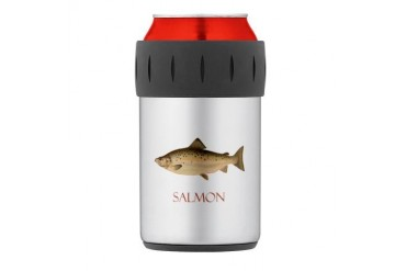Salmon Thermos Can Cooler Fishing Thermosreg; Can Cooler by CafePress