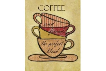 COFFEE AND FRIENDS Poster Print by Taylor Greene (22 x 28)