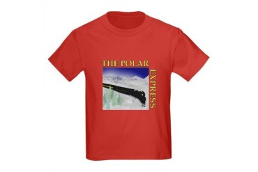 Scenic Polar Express Train Kids Dark T-Shirt