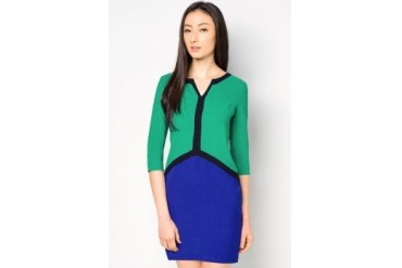EZRA by ZALORA Colour Block Dress