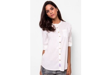 Heath Longsleeve Cotton Crossfire Blouse