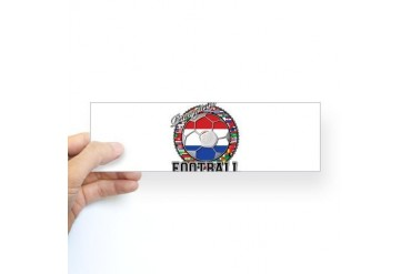 Paraguay Flag World Cup Football Ball with World F Flag Sticker Bumper by CafePress
