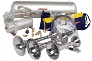 Kleinn Train Horns Complete triple train horn package w/150 psi 100% duty sealed air & BlastMaster Upgrade  HK8 Kleinn Complete Kits