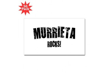 Murrieta Rocks California Sticker Rectangle 50 pk by CafePress