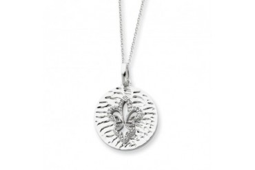 Purity, Fleur de Lis Necklace in Silver