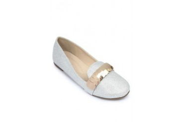 Silver Flats Loafers