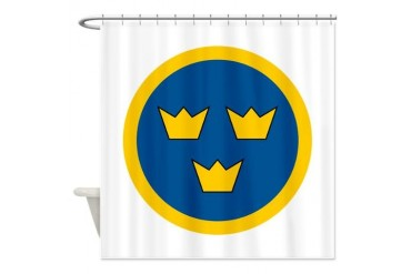 SwAF roundel Air force Shower Curtain by CafePress