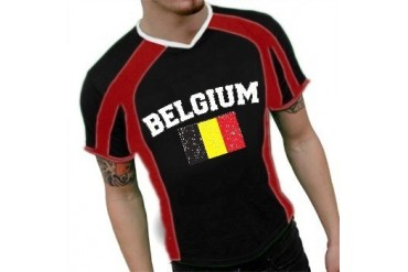 Belgium Vintage Flag International Sport Tee