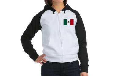 Mexico flag Mexico Women's Raglan Hoodie by CafePress