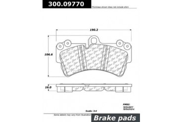 2013 Audi Q7 Brake Pad Set Centric Audi Brake Pad Set 300.09770 13