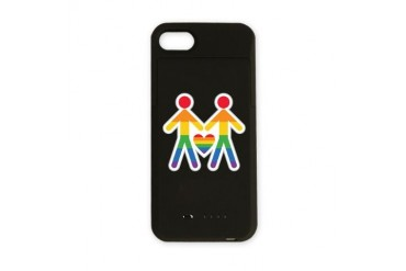 Proud Partners Gay pride iPhone Charger Case by CafePress