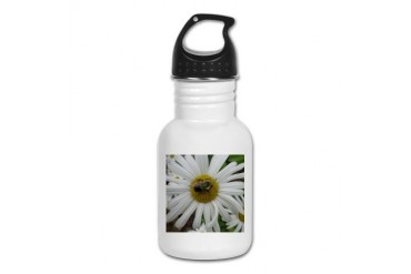 Bumblebee on Daisy Bee Kid's Water Bottle by CafePress