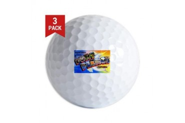Fort Pierce Florida Greetings Vintage Golf Balls by CafePress