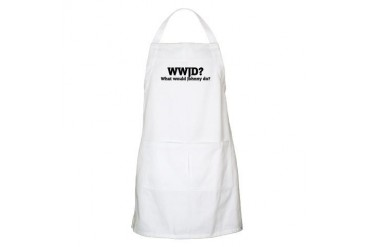 What would Johnny do? BBQ Attitude Apron by CafePress