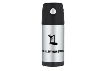 Pole Vault Funny Thermos Bottle 12oz by CafePress