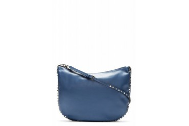 Valentino Indigo Leather Rockstud Shoulder Bag