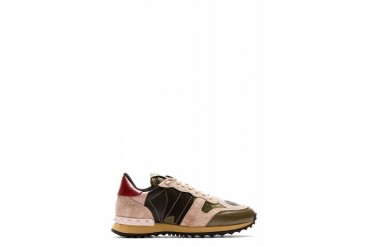 Valentino Powder Pink Camo Sneakers