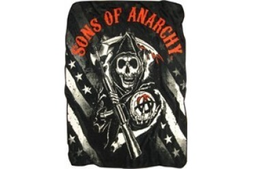 Sons of Anarchy Reaper Stars Stripes Fleece Throw Blanket