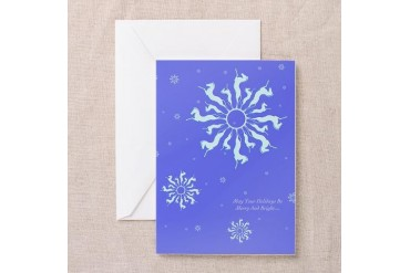 Snowflake Horse Horse Greeting Cards Pk of 10 by CafePress
