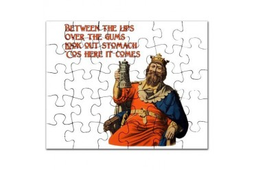 Look Out Stomach Beer Puzzle by CafePress