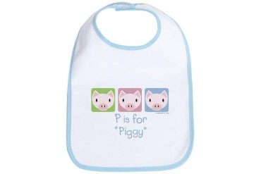 P is for Piggy Baby Bib by CafePress
