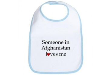 Someone in Afghanistan... Military Bib by CafePress