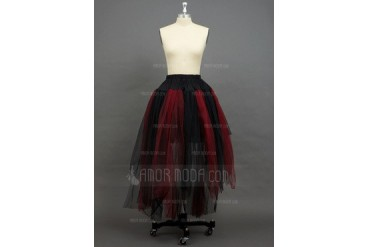 Women Tulle Netting Floor-length 2 Tiers Petticoats (037034002)