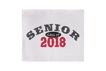 Senior Class of 2018 Stadium Blanket Funny Throw Blanket by CafePress
