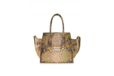 Python Leather Tote w/Shoulder Strap