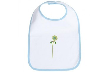 Green Button Flower Nature Bib by CafePress