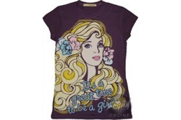 Barbie It's a Great Time to be a Girl Baby Doll Tee by MIGHTY FINE