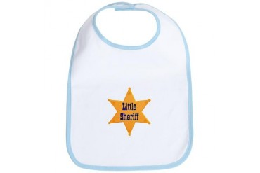 Little Sheriff Baby Baby Bib by CafePress