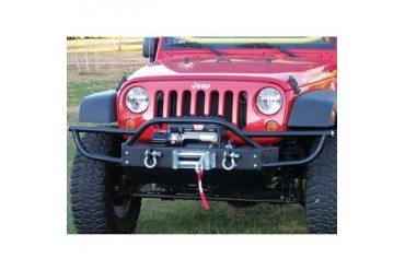 Rock Hard 4x4 Parts Shorty Front Bumper with Lowered Winch Plate without Fog Lights  RH5002 Front Bumpers