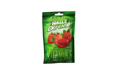 Halls Defense Vitamin C Drops Strawberry 30 each