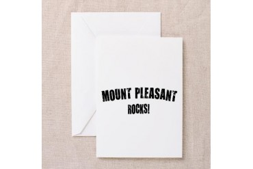 Mount Pleasant Sc Rocks South carolina Greeting Card by CafePress